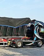 Copertura camion e rifiuti